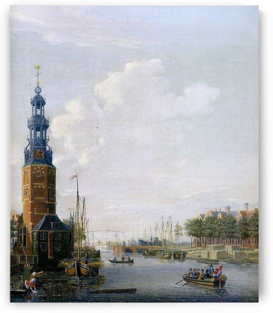 View of Montelbaanstoren at the Oudeschans Sun by Isaac Ouwater