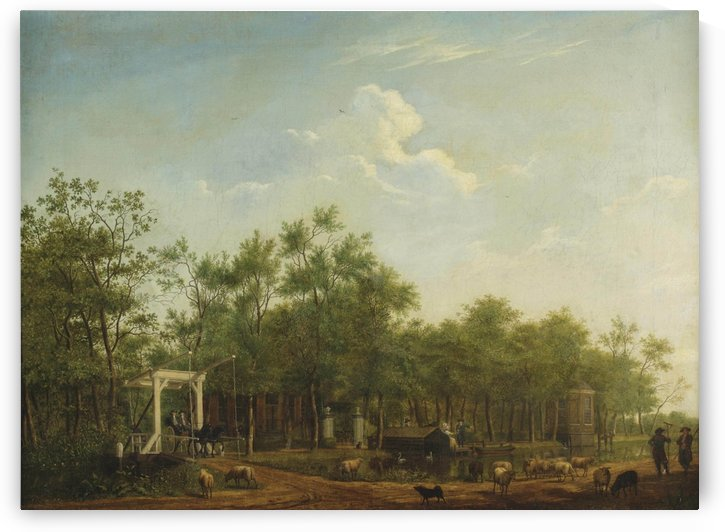 A view of the Donckervliet estate, Braambrugge aan de Amstel by Isaac Ouwater