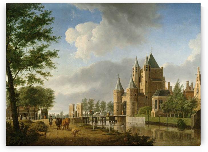 Gezicht op de Amsterdamse Poort te Haarlem by Isaac Ouwater