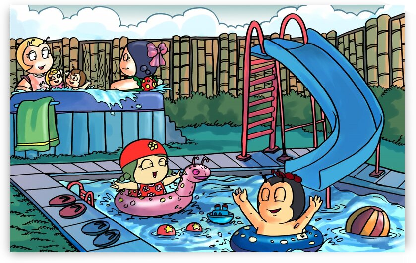 Pool Party - Bugville Critters by Robert Stanek