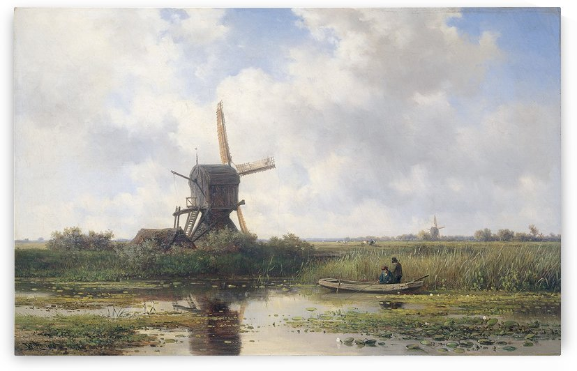 Gein River near Abcoude by Willem Roelofs