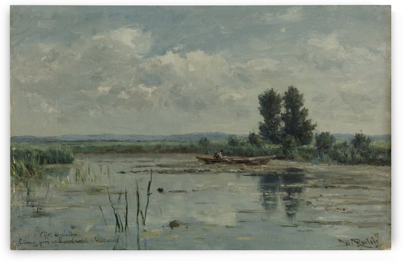 Lake near Loosdrecht by Willem Roelofs