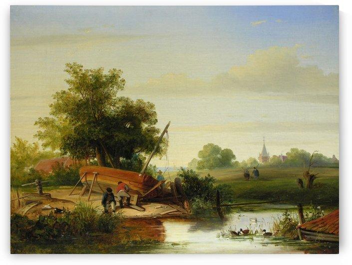 Die Schiffsreparatur by Willem Roelofs