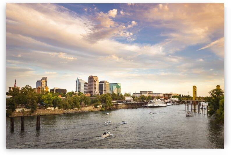 Sacramento City Riverfront by Gary Geddes
