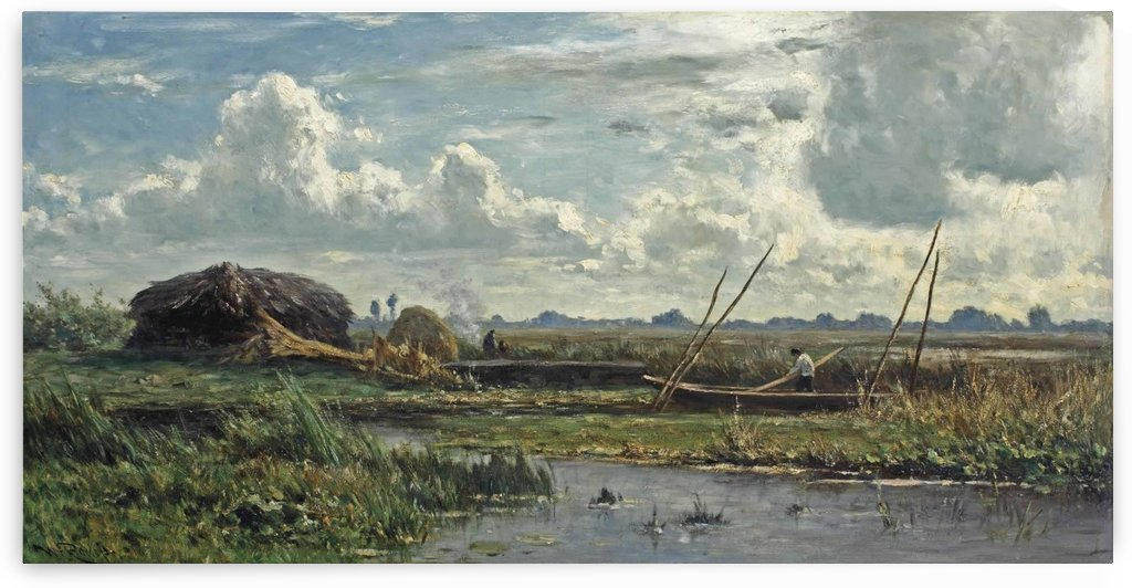 The reed cutters, Kortenhoef by Willem Roelofs