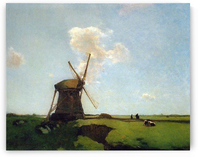 Polder landscape by Willem Roelofs