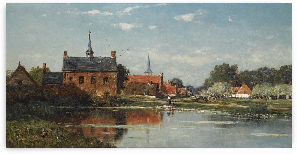 A view of Meerkerk by Willem Roelofs