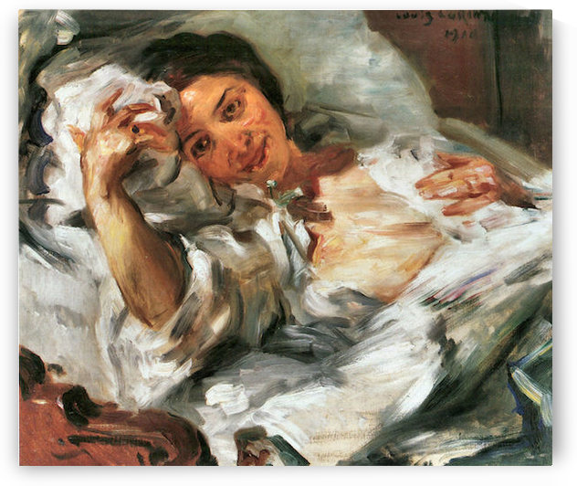 Morning Sun by Lovis Corinth by Lovis Corinth