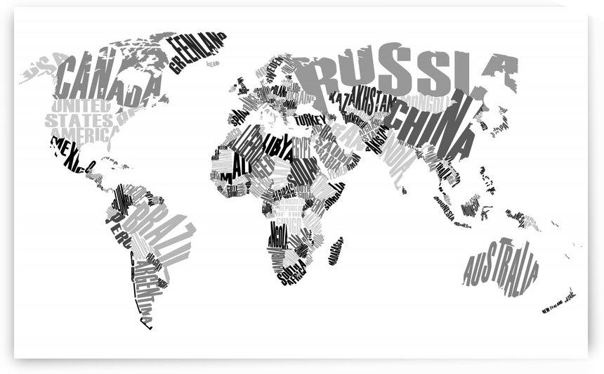 World Map: Land by Eileen Kearney