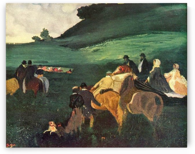 Riders in the  landscape by Degas by Degas