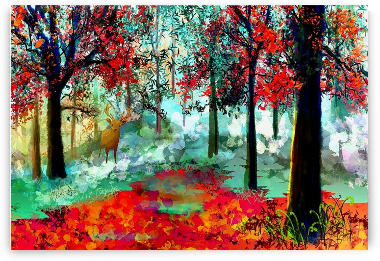 Red Forest by KJHArt