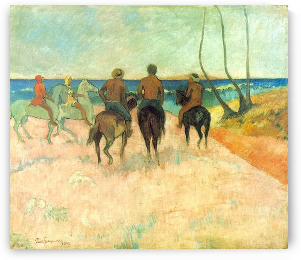Riding on the Beach 2 by Gauguin by Gauguin