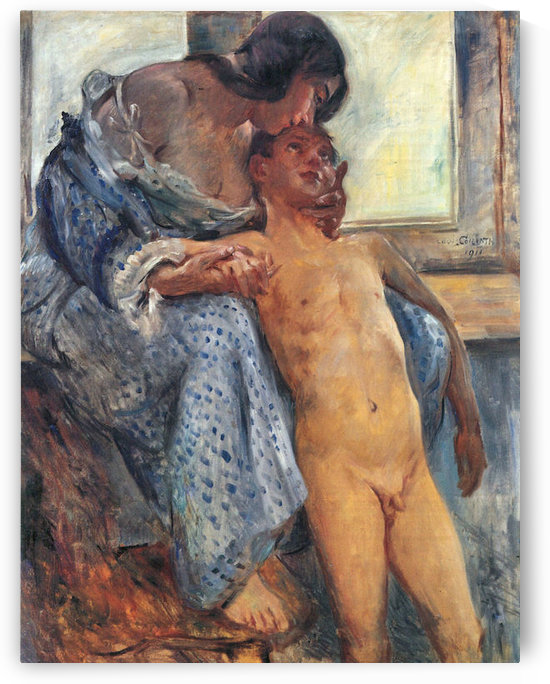 Mother Love by Lovis Corinth by Lovis Corinth
