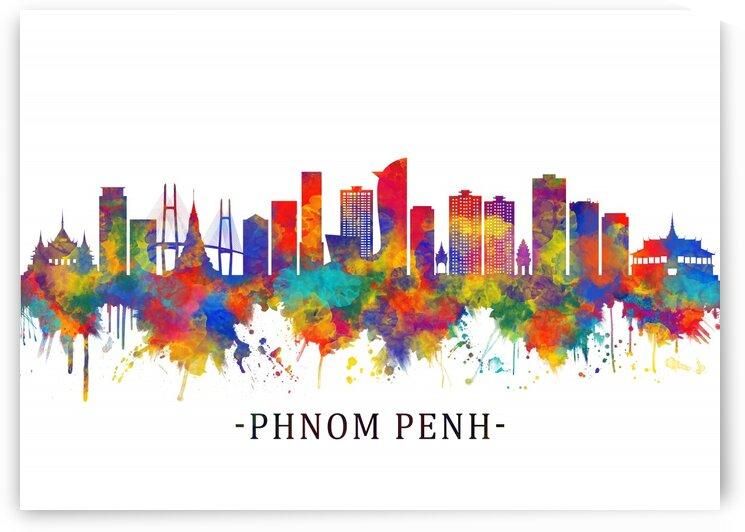 Phnom Penh Cambodia Skyline by Towseef Dar