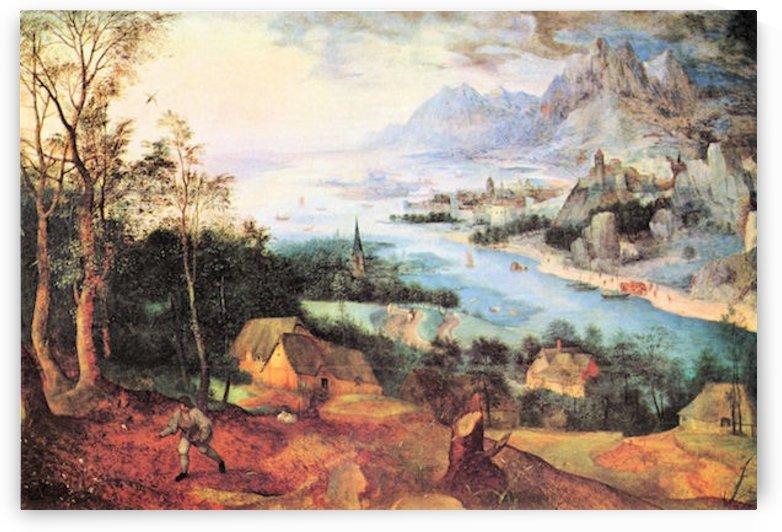 River Landscape with a sower by Pieter Bruegel by Pieter Bruegel