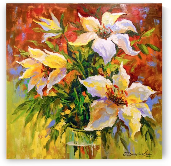 Bouquet of lilies by Olha Darchuk