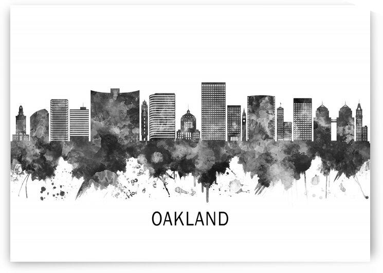 Oakland California Skyline BW by Towseef Dar