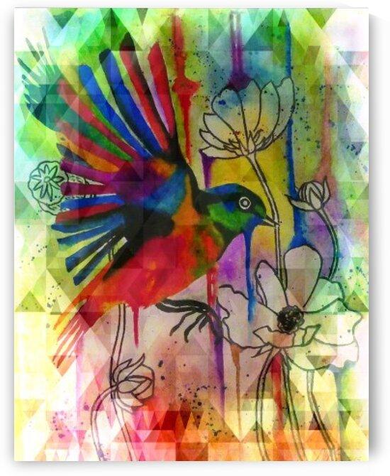 bird abstract 2 by Edward Johnson