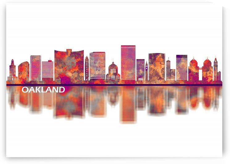 Oakland California Skyline by Towseef Dar