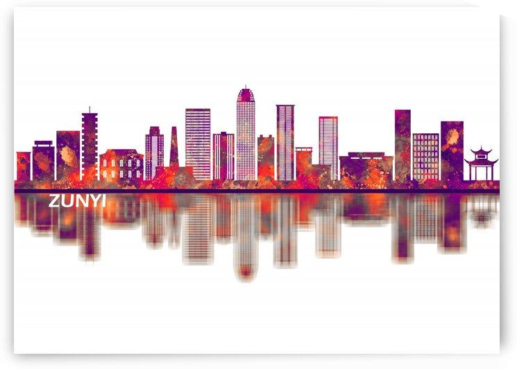 Zunyi China Skyline by Towseef Dar