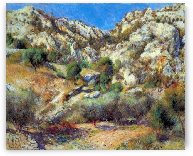 Rocks at L Estage by Renoir by Renoir