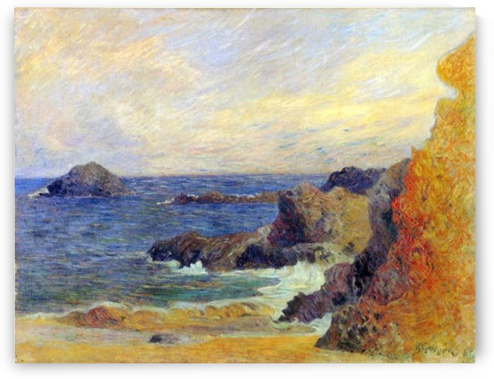 Rocky Coast by Gauguin by Gauguin