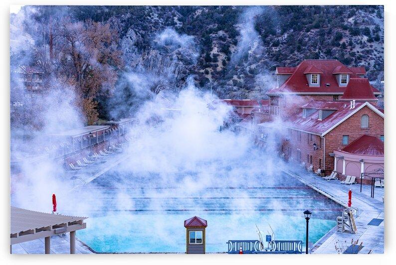 Hot Springs Pool in Glenwood Springs Colorado by Dave Massender