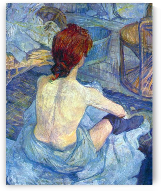 Rousse the Toilet by Toulouse-Lautrec by Toulouse-Lautrec