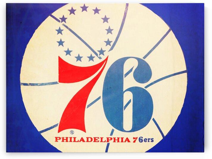 Vintage Philadelphia 76ers Art by Row One Brand