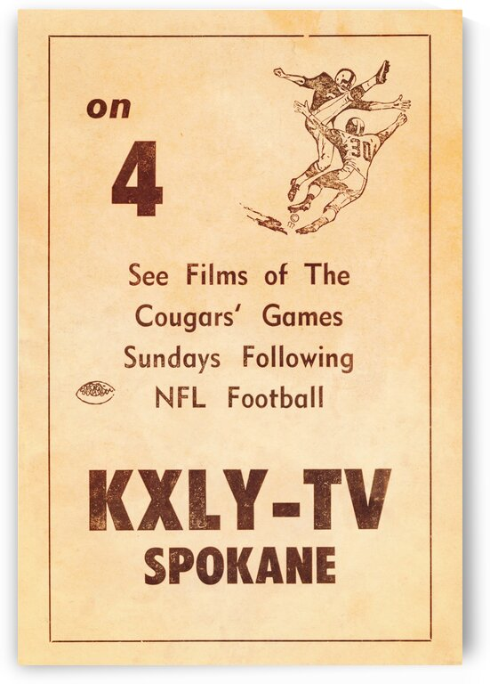 1962 kxly tv spokane football ad by Row One Brand
