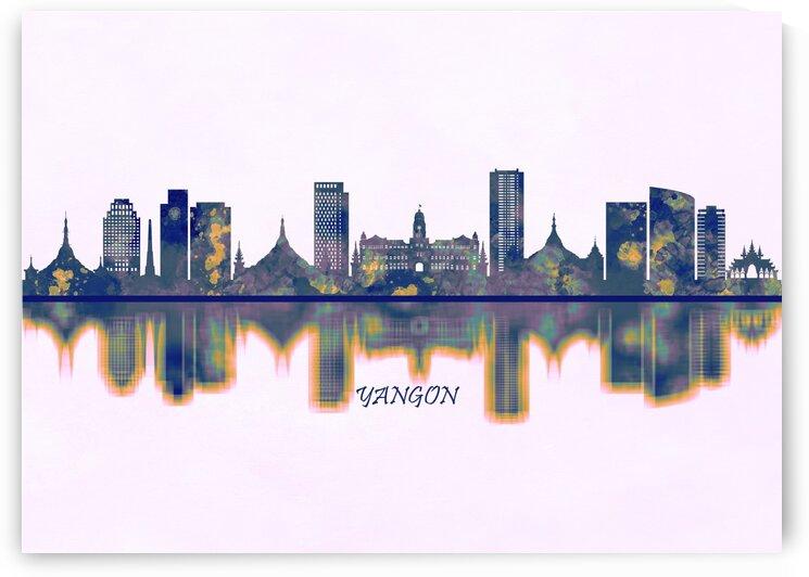 Yangon Skyline by Towseef Dar