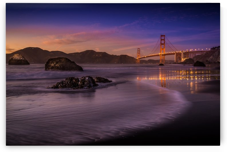 Golden Gate Bridge Fading Daylight by 1x
