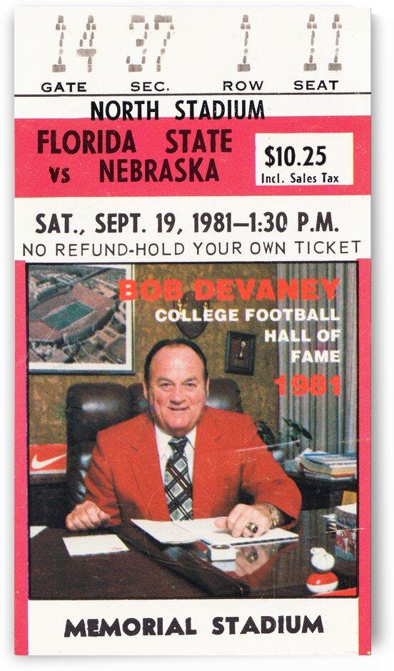 1981 Florida State vs. Nebraska by Row One Brand