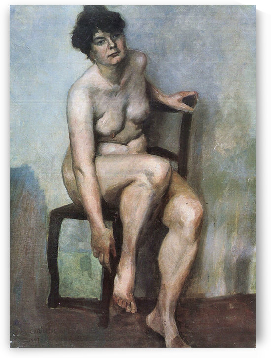 Naked Woman by Lovis Corinth by Lovis Corinth