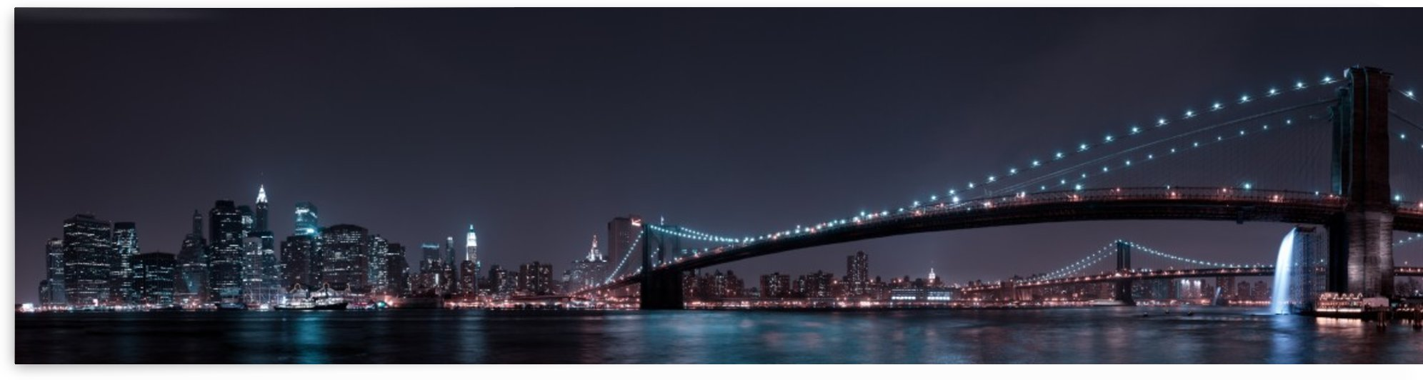 Manhattan Skyline and Brooklyn Bridge by 1x