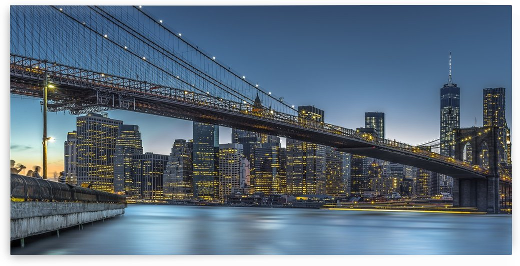 New York - Blue Hour over Manhattan by 1x