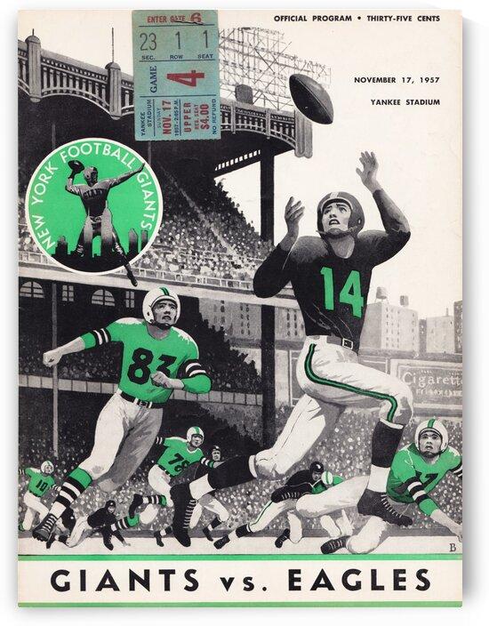 1957 New York Giants vs. Eagles Program  by Row One Brand