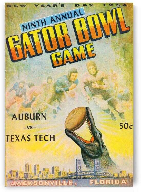 1954 Gator Bowl Auburn vs. Texas Tech by Row One Brand