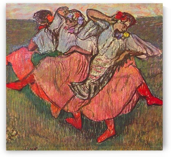 Russian Dancers by Degas by Degas