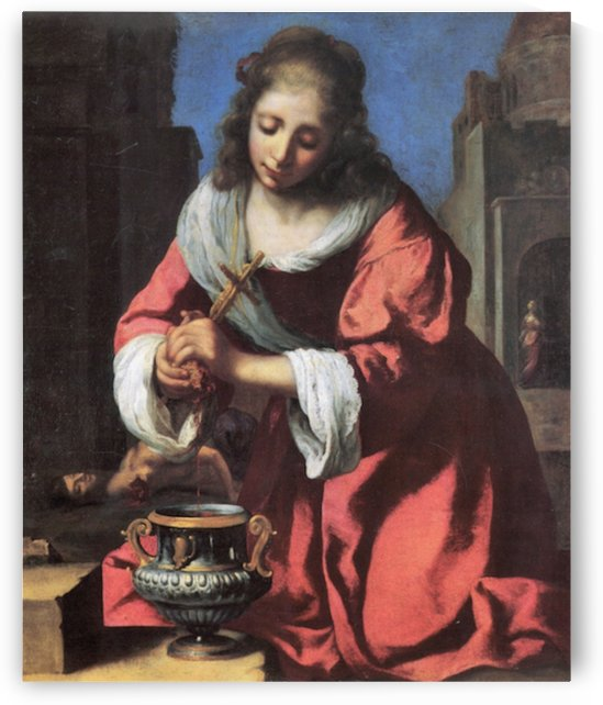 Saint Praxedis by Vermeer by Vermeer