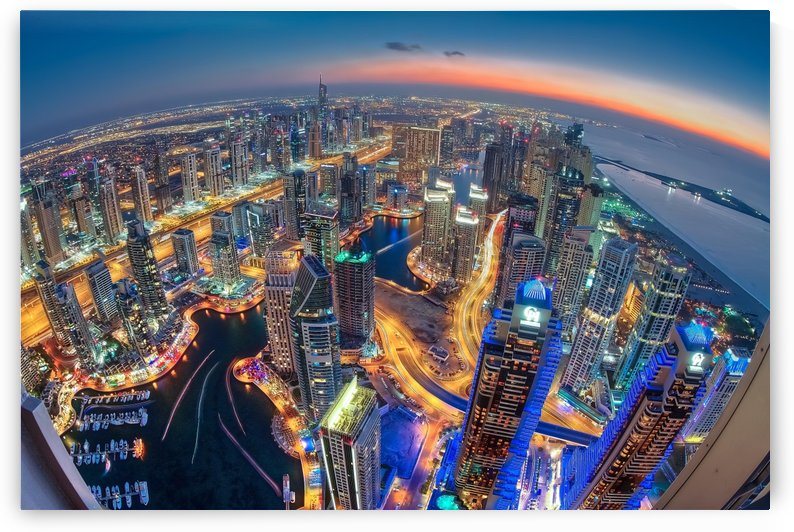 Dubai Colors of Night by 1x