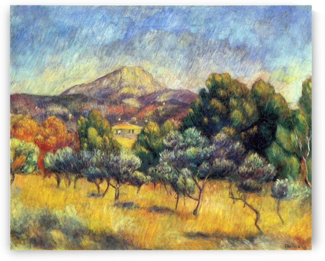 Sainte Vicoria Mountain by Renoir by Renoir