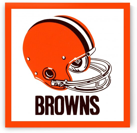 1971 Cleveland Browns Helmet by Row One Brand