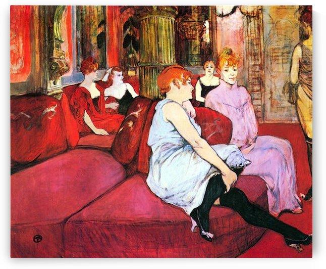 Salon in the Rue de Moulins by Toulouse-Lautrec by Toulouse-Lautrec