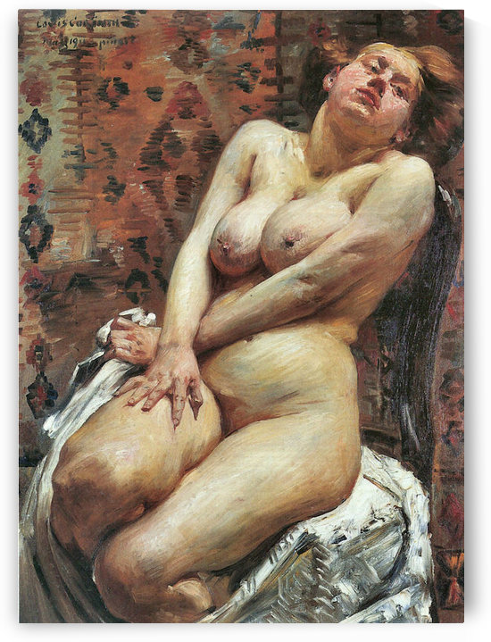 Nana, female nude by Lovis Corinth by Lovis Corinth
