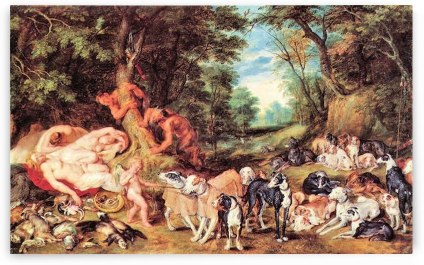 Satyrs and Hounds by Rubens by Rubens
