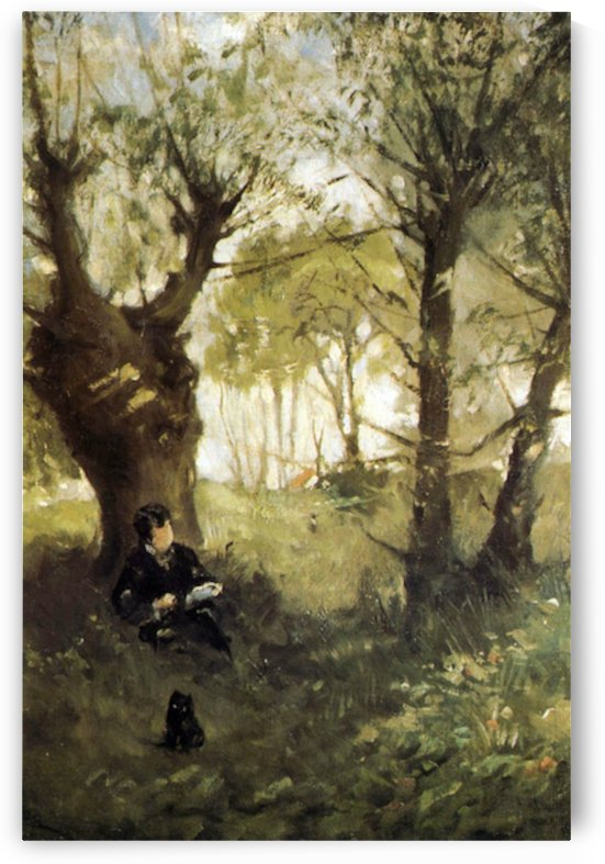 Scene in Auvers by Morisot by Morisot