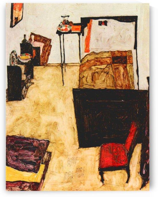Schiele s living room in Neulengbach by Schiele by Schiele
