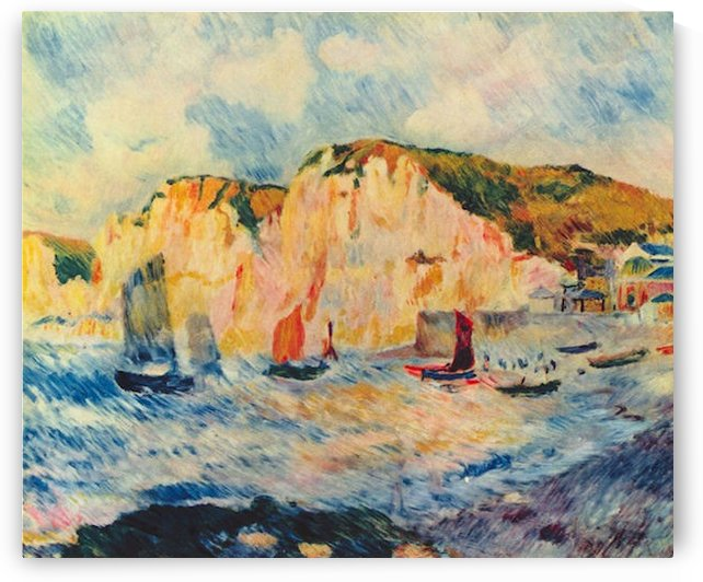 Sea and Cliffs by Renoir by Renoir