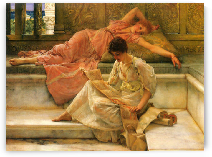 A favorite poet by Alma-Tadema by Alma-Tadema